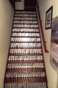 Decorative Art Stair Riser Interior Design