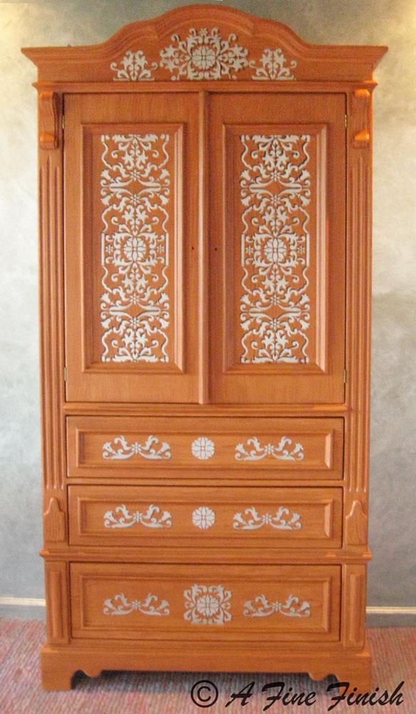 Ottoman Inlay Armoire